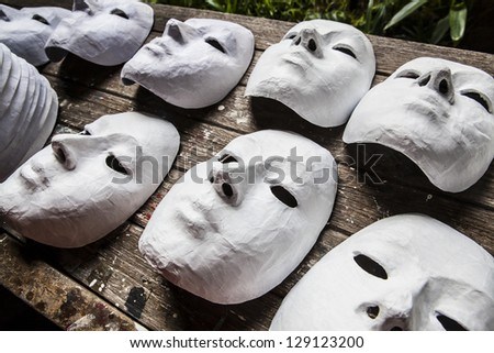 White Masks - stock photo