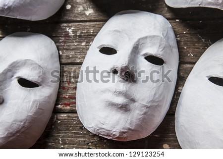 White Masks - stock photo