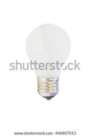 white matte light bulb, isolated on white background