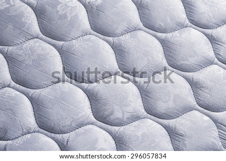 white mattress bedding pattern background - stock photo