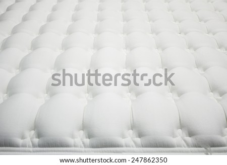White mattress furniture store, real estate - stock photo