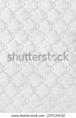 White mattress texture - stock photo