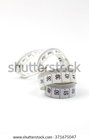 White Measure Tape Isolated.
