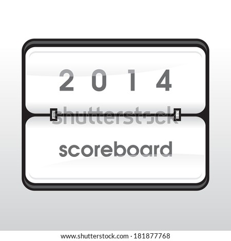 white mechanical scoreboard - stock photo