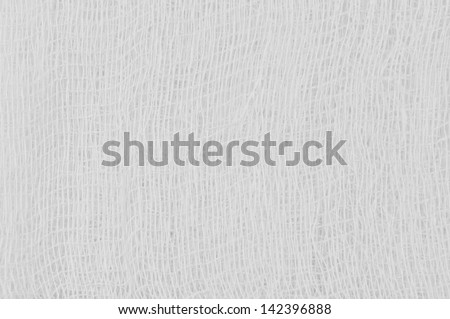 White medical bandage gauze texture, abstract textured background macro closeup, natural cotton linen fabric, copy space - stock photo