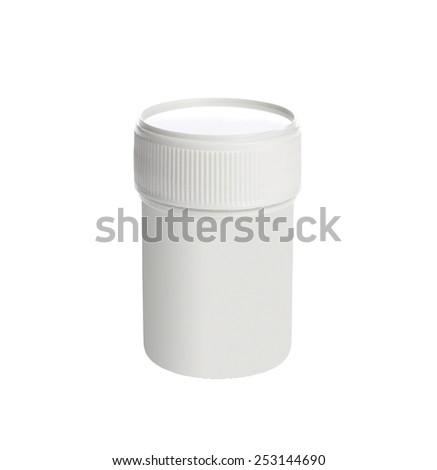 White medical container - stock photo