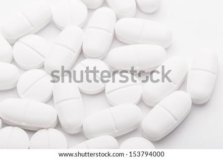 White medicine - stock photo