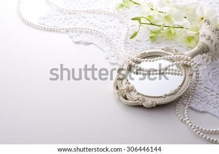 white mirror - stock photo