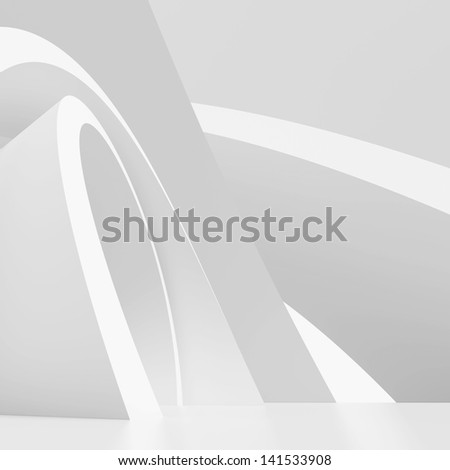 White Modern Architecture Background - stock photo