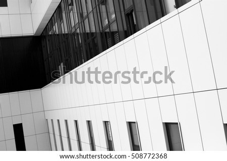 white modern facade with windows