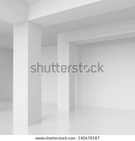 White Modern Interior Background