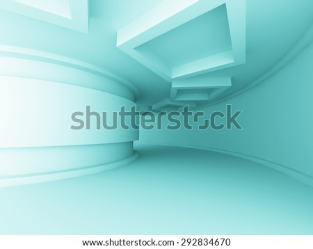 White Modern Interior Design Background. 3d Render Illustration - stock photo
