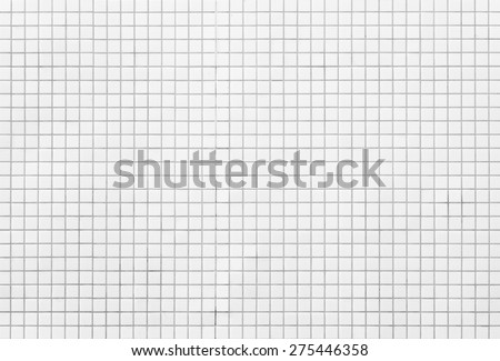 White Mosaic Tiles abstract background and texture  - stock photo