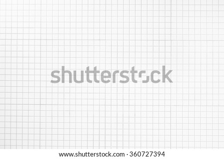White Mosaic Tiles background and texture - stock photo