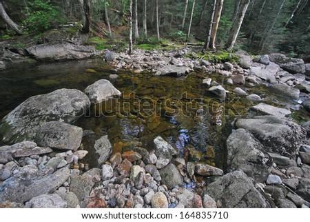 White Mountains in New Hampshire - stock photo