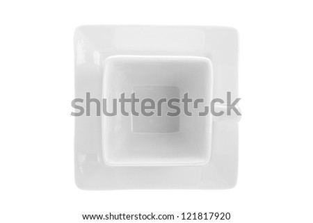 White mug in a macro image