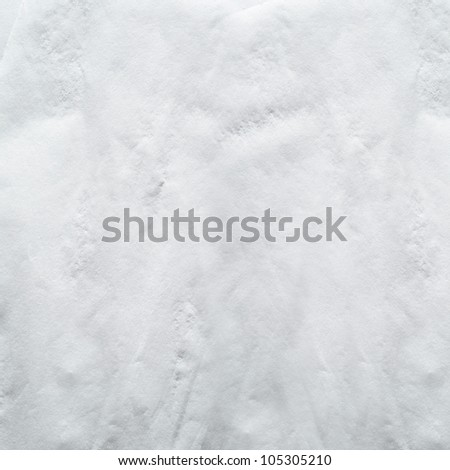 white napkin, wet wrinkled texture - stock photo