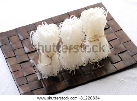 white noodle - stock photo