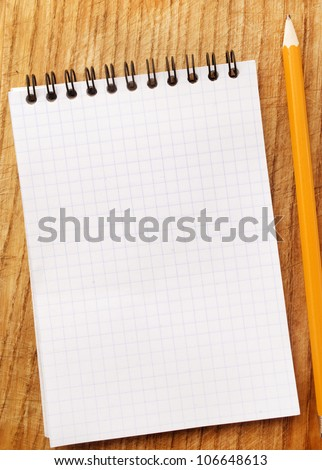 white note book