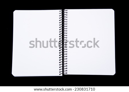 White note with space for text. Black background - stock photo