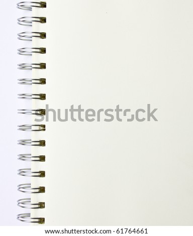 white notebook for background