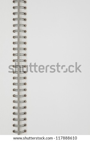 white notebook open page, empty space exercise book