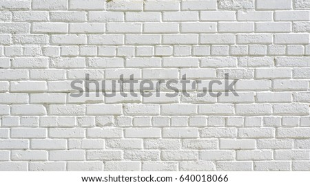 White Old Brick Wall Texture Background Urban Wallpaper Interior