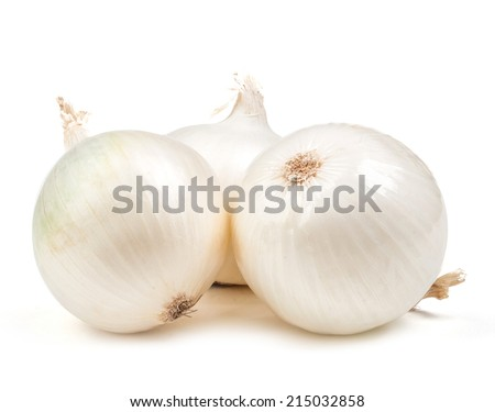 white onion isolated on white background - stock photo