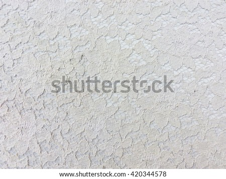 White openwork lace background - stock photo