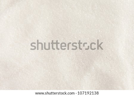 White Organic Cane Sugar against a background - stock photo