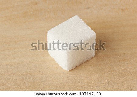 White Organic Cane Sugar against a background - stock photo