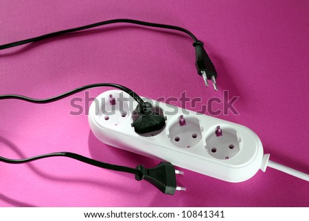 White outlet on background. Great details and colors.