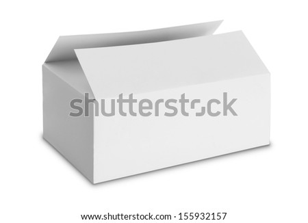 white Package Box isolated over white background