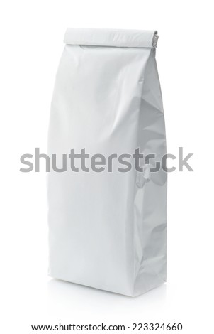 White package isolated on a white background - stock photo