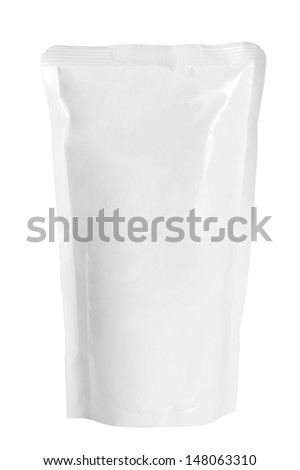 White package plastic bag for add your text