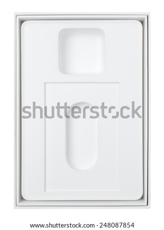 white packing box  - stock photo