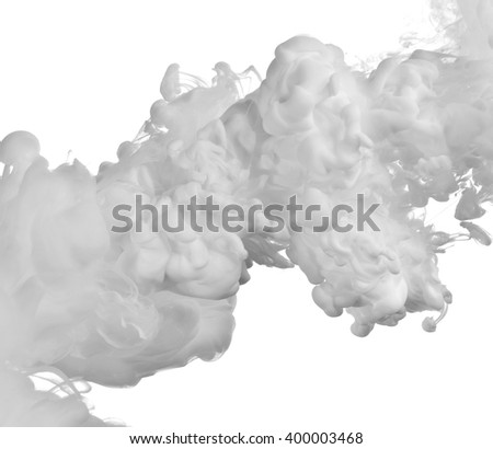 white paint in water - stock photo