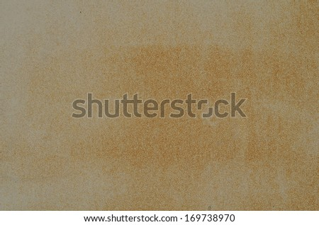 White painted metal door with slight rust formation - stock photo