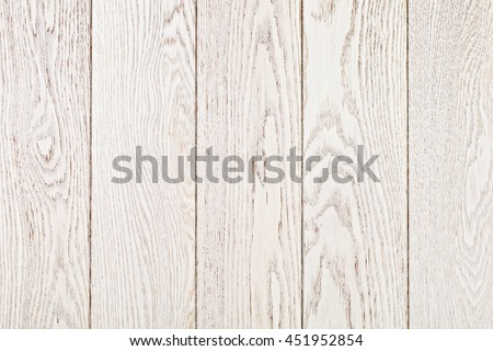 White Painted Oak Boards Background - stock photo