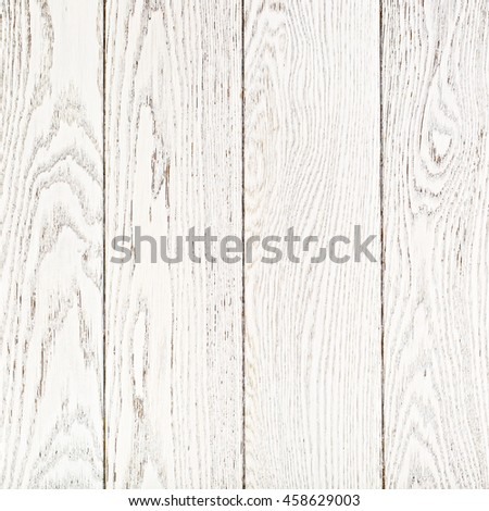 White Painted Oak Boards Background