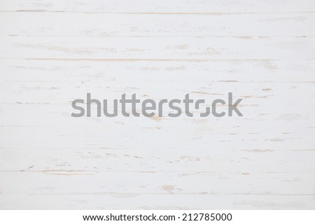 White painted wood background - stock photo