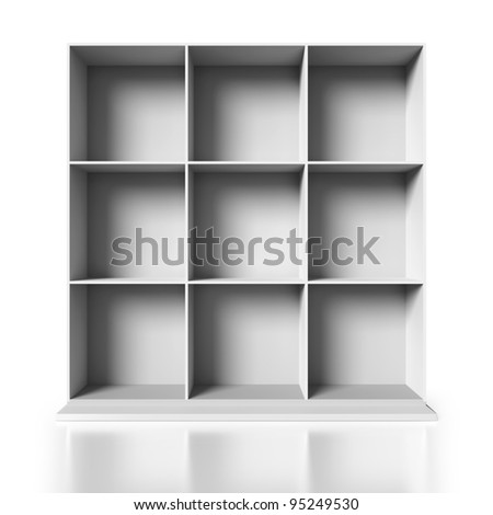 White Painted Wooden Cupboard on a white background