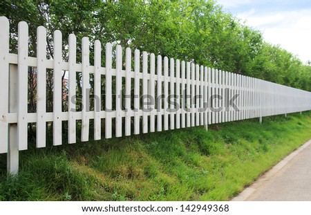 White palisade in perspective