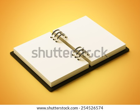 White Paper Agenda isolated on yellow background