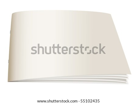 White paper back book with fan open pages - stock photo