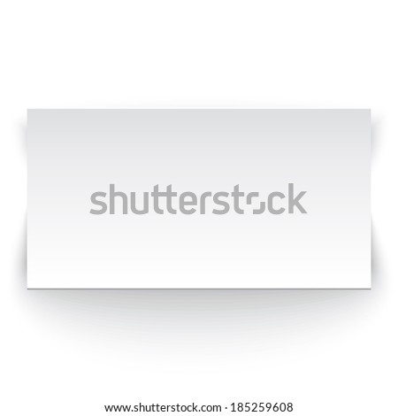 White paper banner. Perfect for your presentations