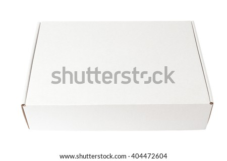 White paper box isolated on white background  - stock photo