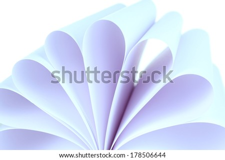 White paper close up - stock photo