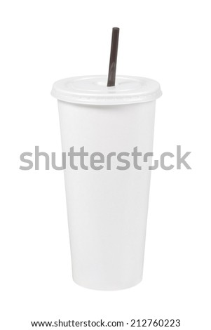White paper cup of coffee