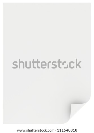 white paper isolated on white - stock photo